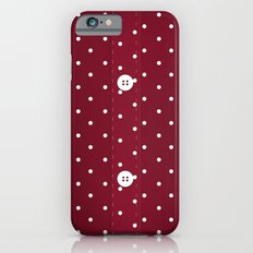 Red Polka Dot Button Up iPhone 6s Slim Case