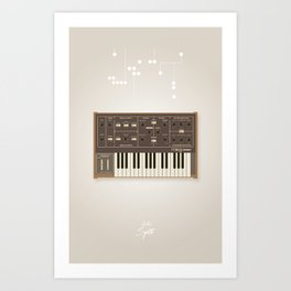 The Synth Project - Moog Prodigy - Updated Art Print