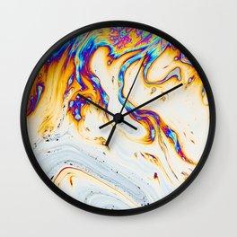 Trippy liquid dye painting Wall Clock