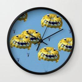 funny swarm Wall Clock