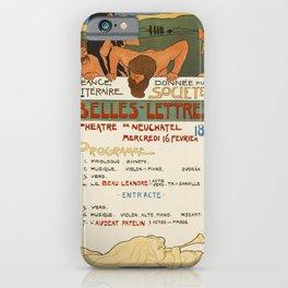 Plakat neuchatel societe de belles lettres iPhone Case