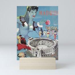 Vintage travel poster - Madrid Mini Art Print