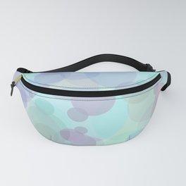 Blue Bubbles Patterned Fanny Pack