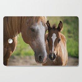 Horse Family Cutting Board