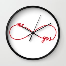 You and me together forever Wall Clock