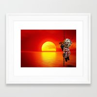 bioshock Framed Art Prints featuring sunset bioshock by sgrunfo