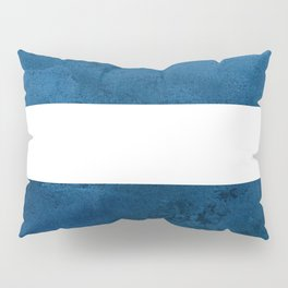 Indigo Watercolor Stripes Pillow Sham