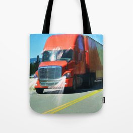Big Red - Lorry Art for Truck-lovers and Truckers Tote Bag