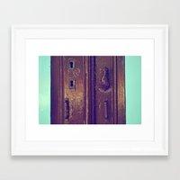door Framed Art Prints featuring door by gzm_guvenc