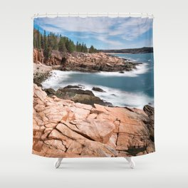 Acadia National Park - Thunder Hole Shower Curtain