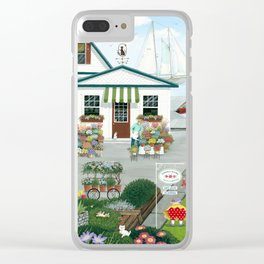 Purr-fect Blooms Clear iPhone Case