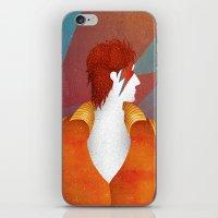 david bowie iPhone & iPod Skins featuring Bowie by David van der Veen
