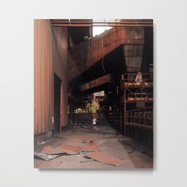 Abandoned Steel Factory Metal Print