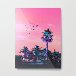 Pinktones Beach DR. Metal Print