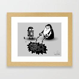 Adventure Wars - Black & White Framed Art Print