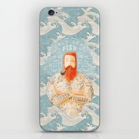 wave iPhone & iPod Skins featuring Sailor by Seaside Spirit