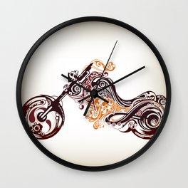 Abstract Motorcycle Wall Clock