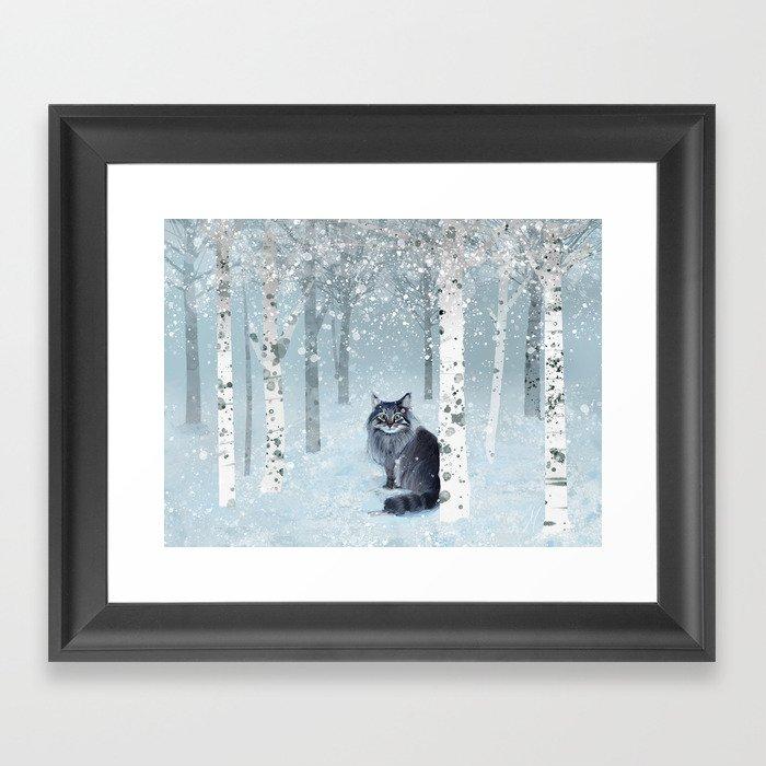 Finny Forest Gerahmter Kunstdruck