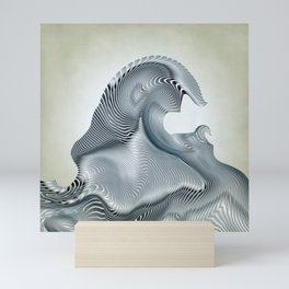 Silver Wave Mini Art Print