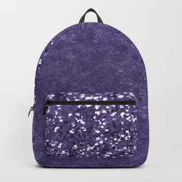 Ultra Violet Glitter Meets Ultra Violet Concrete #1 #decor #art #society6 Backpack