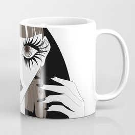 Goth girl with big brown eyes Coffee Mug