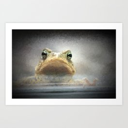 Frog from Front Painting Style Art Print