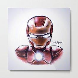 Iron Man - Chibi Anime Style Metal Print