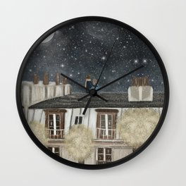 moonlit wishes with you Wall Clock