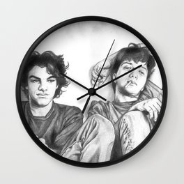 Gene & Dean Ween Graphite Drawing Wall Clock