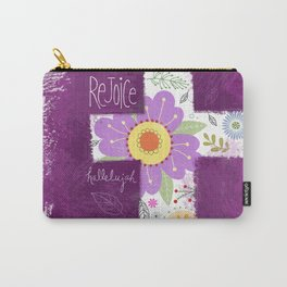 Rejoice Cross (purple) Carry-All Pouch