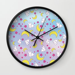 Usagi' s Pattern Wall Clock