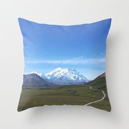 Mount Denali Throw Pillow