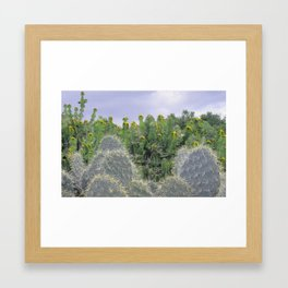 Crazy Cactus Framed Art Print