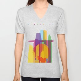 Shapes of Singapore. Unisex V-Neck