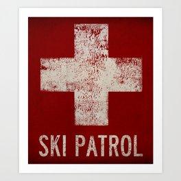 Ski Patrol Blanket Native Vermont Art Print