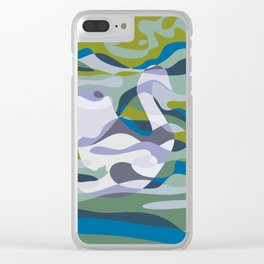 Somewhere in Green Water Clear iPhone Case