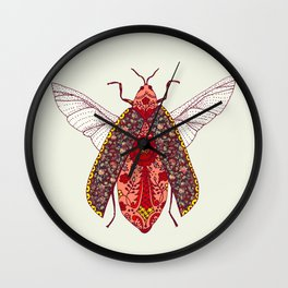 bohemian bug Wall Clock