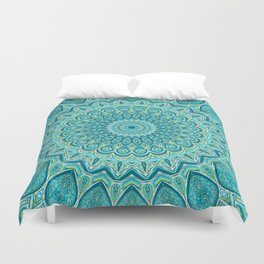 Turquoise Treat - Mandala Art Duvet Cover