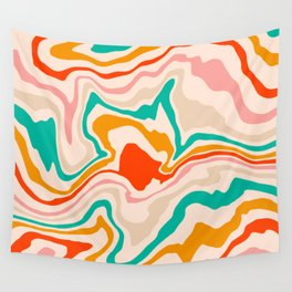 Warm abstract marble Wall Tapestry