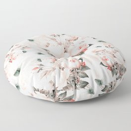 Vintage & Shabby Chic - Pink Redouté Roses Flower Bunches Floor Pillow