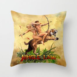 JUNGLE LAW Throw Pillow