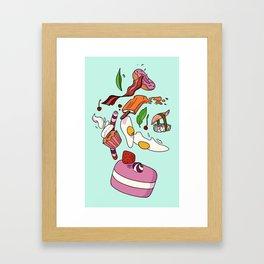 falling food Framed Art Print