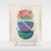 planet Shower Curtains featuring Planet by Valerio Pellegrini