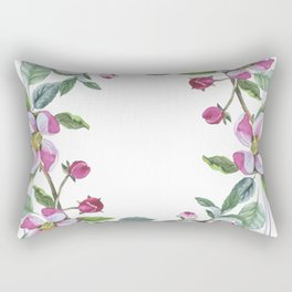 Apple Blossom Frame 02 Rectangular Pillow