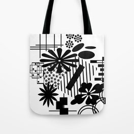 Black And White Flower Zentangle Tote Bag