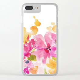 Warm Florals Clear iPhone Case