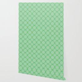 Sage Green Spring Lace Wallpaper