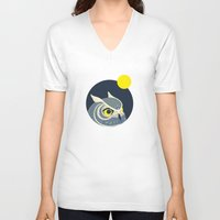anaconda V-neck T-shirts featuring Night Owl by Polkip