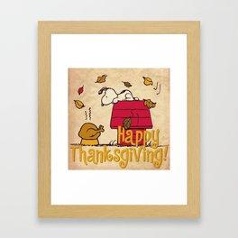 Thanksgiving Snoopy Framed Art Print