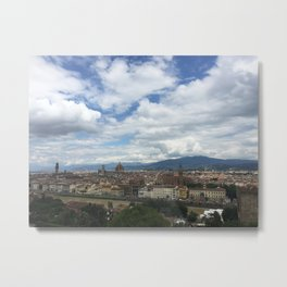 Florence, Italy landscape Metal Print